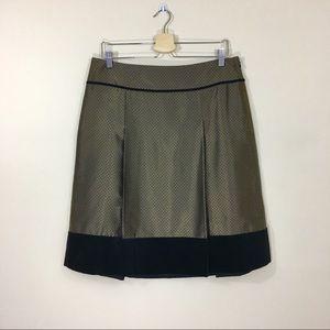 Ann Taylor Bronze and Black Skirt
